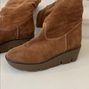 Michael Kors Shoes - Shearling suede boots